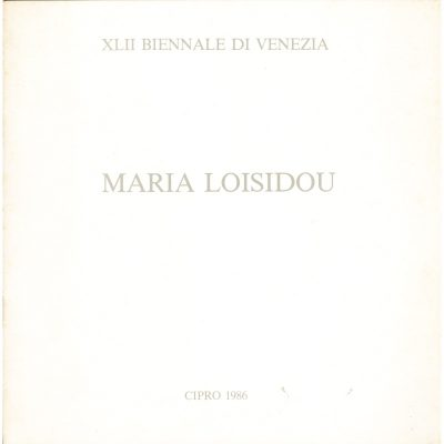 Maria Loisidou. XLII Biennale di Venezia - Cipro, 1986