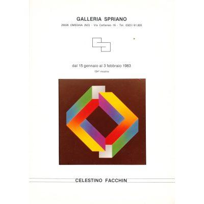 Celestino Facchin - Galleria Spriano, 1983