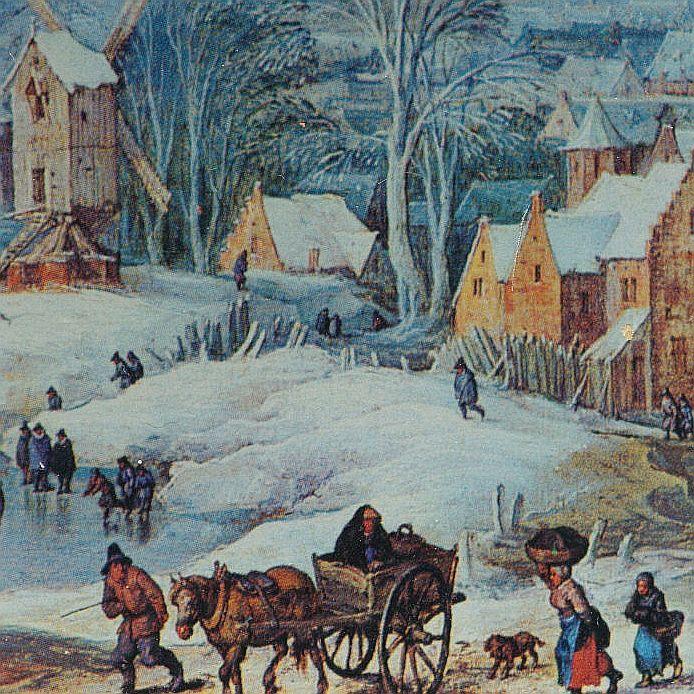 Jan Bruegel - Paesaggio invernale (Stampa)