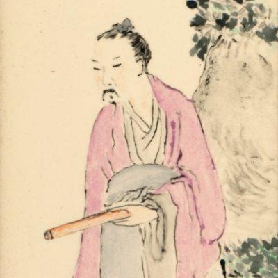 Il vecchio samurai - Acquarello su carta (opera)