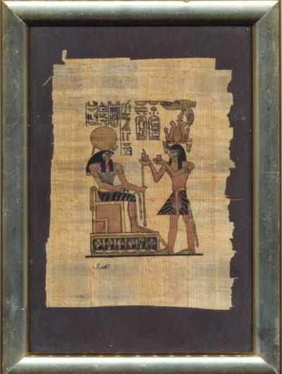 Anonimo. Papiro egiziano dipinto a mano