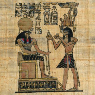 Papiro egiziano dipinto a mano