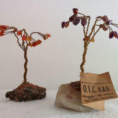 Bonsai in filigrana di ottone e pietre semipreziose