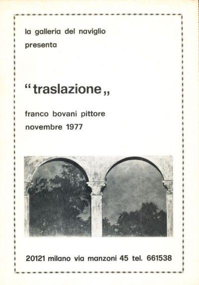 Franco Bovani. Traslazione