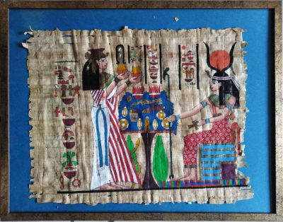 Papiro egiziano dipinto a mano (Artigianato Artistico)