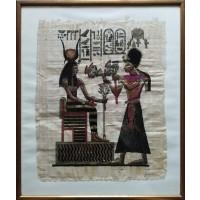Papiro egiziano certificato dipinto a mano (Artigianato Artistico)