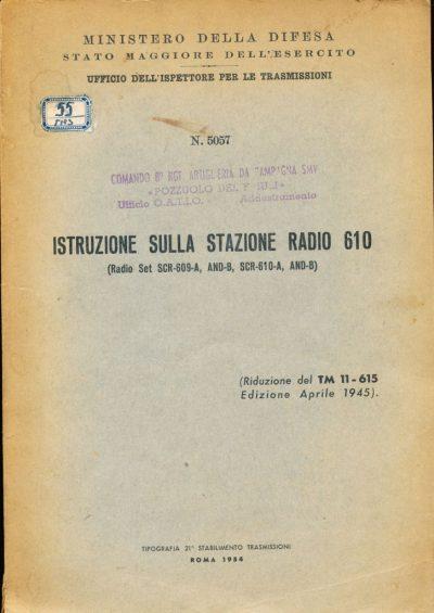 Istruzione sulla Stazione Radio 610
