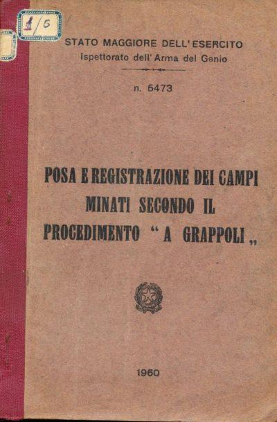 Posa e registrazione dei campi minati