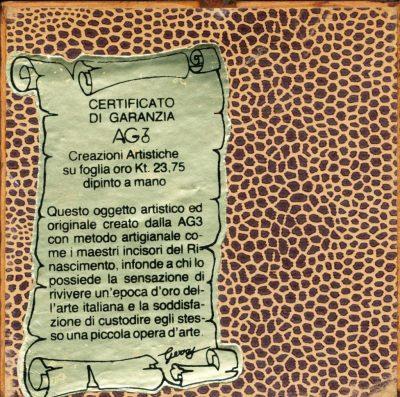 AG3. Foglia d'oro dipinta a mano (Opera)