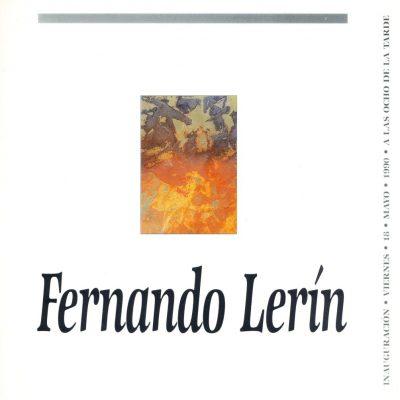 Fernando Lerin. Zaragoza, 1990