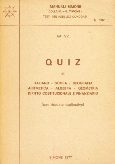 Manuali Simone - Quiz per pubblici concorsi