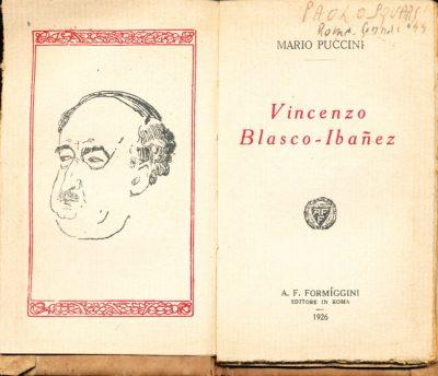 Mario Puccini. Vincenzo Blasco-Ibanez (Mini Libro)
