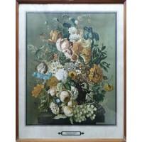 Joseph Nigg. Composizione di fiori, farfalle e uva (Opera)