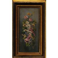 Floreale - Dipinto a mano, olio su tela (Opera)