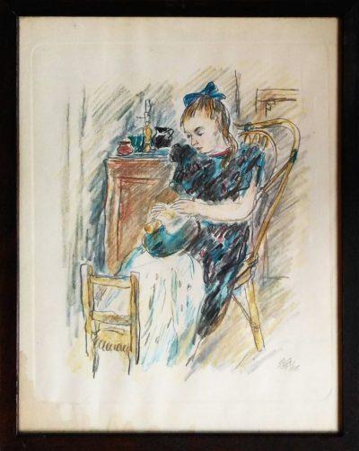 MVM. Fanciulla seduta - Acquerello (Opera)