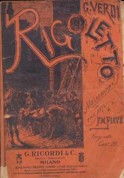 Rigoletto di Giuseppe Verdi (Libretto)