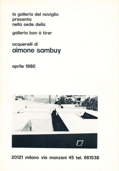Acquerelli di Aimone Sambuy (1980)