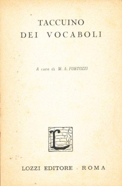 Taccuino dei vocaboli (Mini Libro)