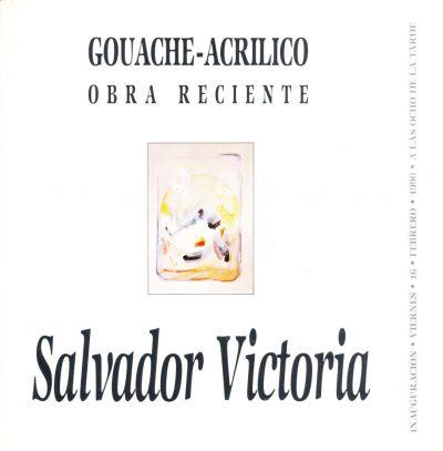 Salvador Victoria. Gouache-Acrilico - Obra reciente, 1990