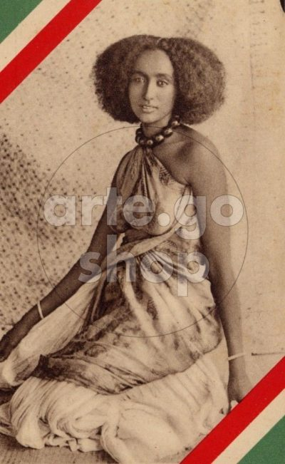 Africa Orientale Italiana - Giovane bellezza somala seduta