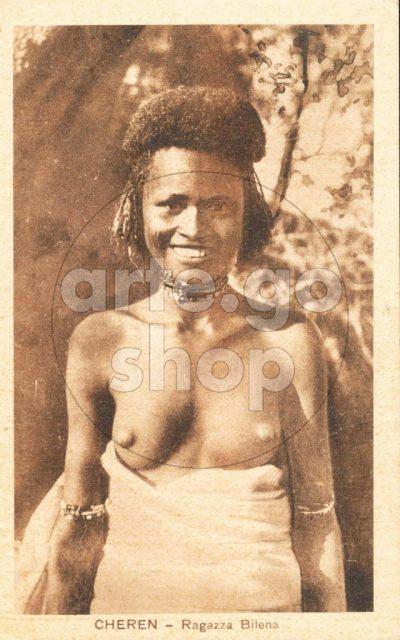 Africa Orientale Italiana - Cheren - Ragazza Bilena