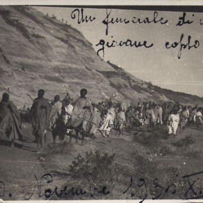 Africa Orientale Italiana - Funerale di un giovane copto
