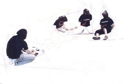 Antonio Sassu / Gruppo Sinestetico. Postcard Set (4 Opere)
