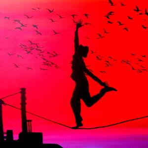 CICLO SHADOWS 2013 - migrazione è libertà - acrilico su legno cm 80x80