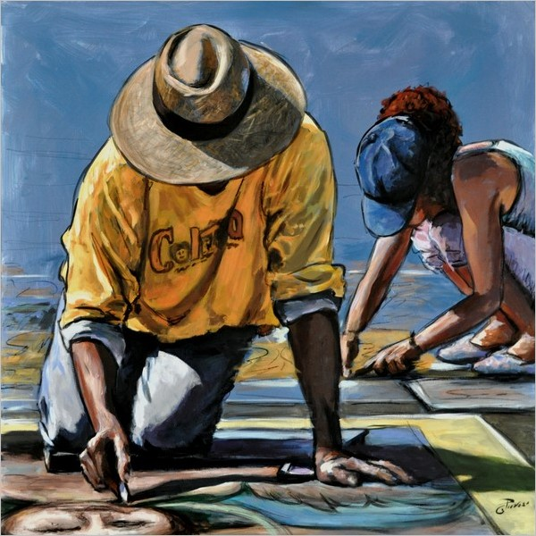 Oscar Piovosi. Ground - I madonnari