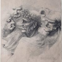 Leonardo disegnato da Hollar