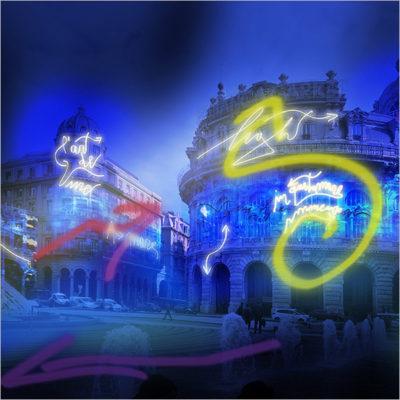 Lo spirito di Genova - Installazione luminosa di Marco Nereo Rotelli