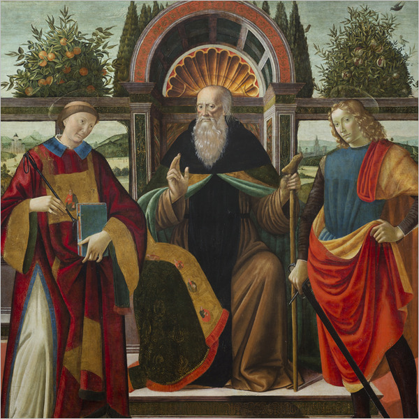 """Il restauro della tavola quattrocentesca """"Sant'Antonio Abate in trono tra San Leonardo e San Giuliano Ospitaliere"""""""