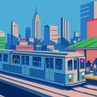 Emiliano Ponzi. La grande mappa della metropolitana di New York