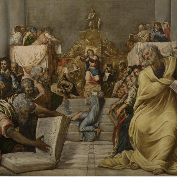 """Tintoretto ritrovato: ritorno di un capolavoro. Il restauro della """"Disputa di Gesù fra i dottori del tempio"""""""