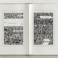 Emilio Isgrò. I 35 libri dei Promessi Sposi cancellati