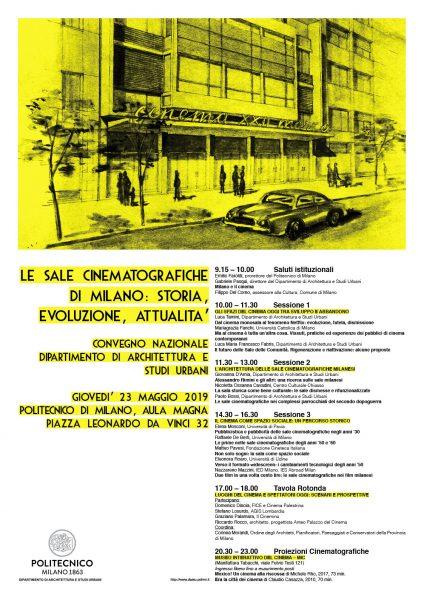 """Convegno: """"Le sale cinematografiche di Milano: storia, evoluzione, attualità"""