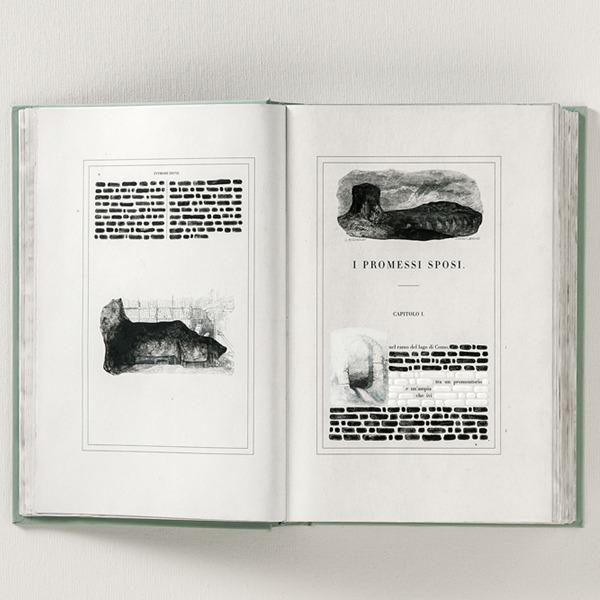 """Incontro con Emilio Isgrò e i suoi 35 libri dei Promessi Sposi """"cancellati"""""""
