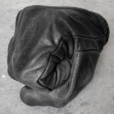 Fabio Viale. Black fist