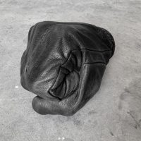Fabio Viale. Black fist