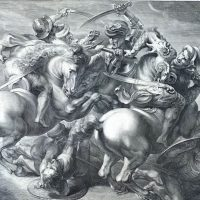 Gérard Edelinck e la Battaglia di Anghiari da Leonardo