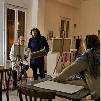 Laboratorio di pittura con Alessandro Bazan, Francesco De Grandi e Fulvo Di Piazza