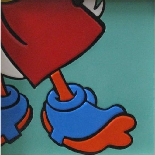 Cut. Cartoon's feet