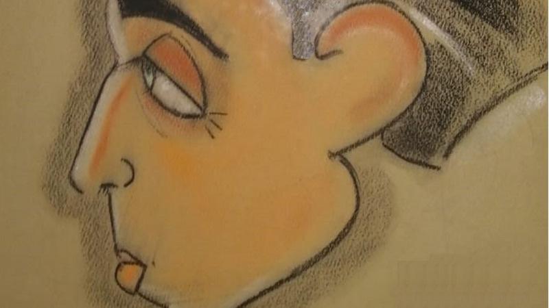 E' di Federico Fellini la caricatura ritrovata in una vecchia casa a Salerno