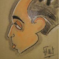 E' di Federico Fellini la caricatura ritrovata in unavecchia casa a Salerno