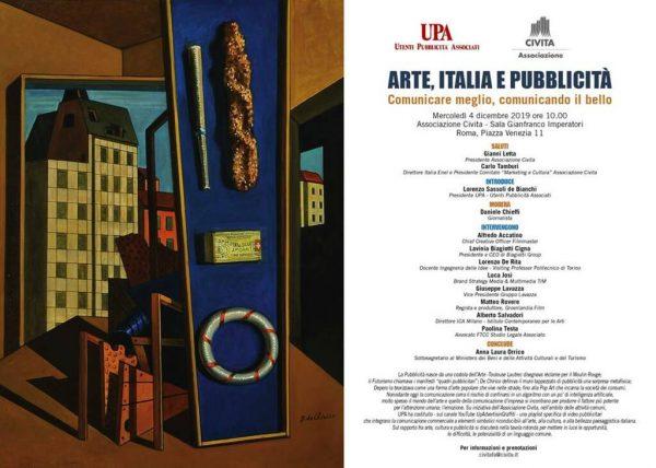 """Convegno: """"Arte, Italia e pubblicità. Comunicare meglio, comunicando il bello"""""""