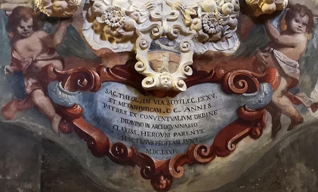 Il restauro del monumento a Matteo Ferchio (1583-1669), teologo e docente di Metafisica all'Università di Padova