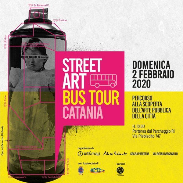 A bordo dello Street Art Bus Tour alla scoperta dell'Arte pubblica di Catania