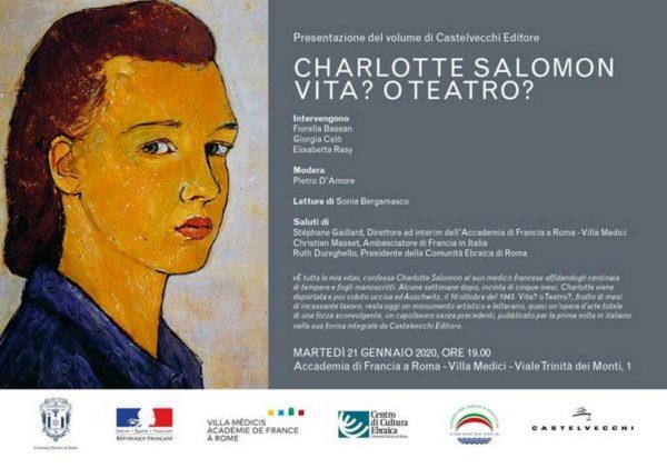 """Presentazione: """"Vita? o Teatro?"""" di Charlotte Salomon"""