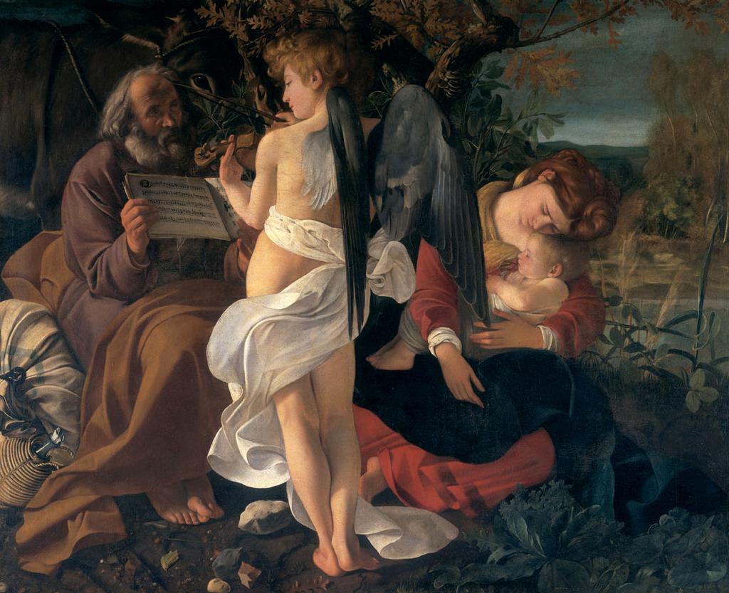 """""""Il riposo durante la fuga in Egitto"""" di Michelangelo Merisi detto il Caravaggio"""