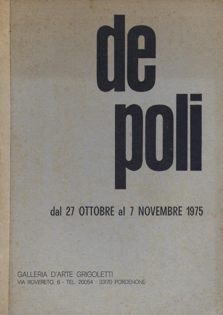 """Mario De Poli"" - 1975"